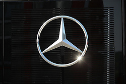 23.07.2015, Hungaroring, Budapest, HUN, FIA, Formel 1, Grand Prix von Ungarn, Vorberichte, im Bild Mercedes Benz stern auf schwarzem Hintergrund der Funkelt // during the preperation of the Hungarian Formula One Grand Prix at the Hungaroring in Budapest, Hungary on 2015/07/23. EXPA Pictures &copy; 2015, PhotoCredit: EXPA/ Eibner-Pressefoto/ Bermel<br /> <br /> *****ATTENTION - OUT of GER*****