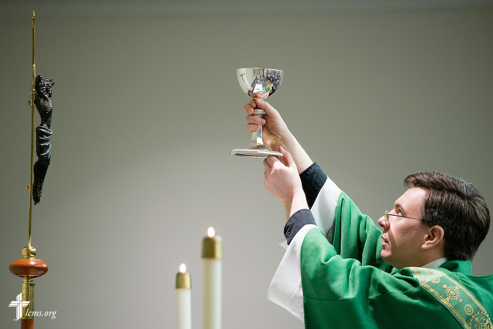 The Rev. Christopher Esget leads the pre-march Divine Service Thursday, Jan. 22, 2015, at the Hilton in Crystal City, Va. LCMS Communications/Erik M. Lunsford