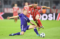 v.l. Adrien Trebel (Anderlecht), Franck Ribery<br /> Muenchen, 12.09.2017, Fussball, Champions League, Gruppenphase, FC Bakpyern Muenchen - RSC Anderlecht