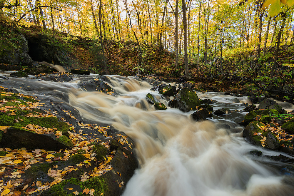 Autumn leaves surround Planter Creek<br /> Wakefield, Michigan