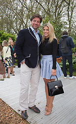 © Licensed to London News Pictures. 20/05/2013. London, England. Nick Knowles with wife Jessica Rose Moor. Celebrities at Press Day Monday of the RHS Chelsea Flower Show. Photo credit: Bettina Strenske/LNP