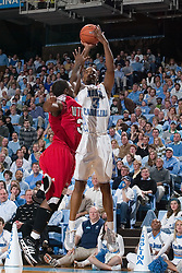 28 December 2006: North Carolina Tarheel forward (3) Reyshawn Terry during a 87-48 Rutgers Scarlet Knights loss to the North Carolina Tarheels, in the Dean Smith Center in Chapel Hill, NC.<br />