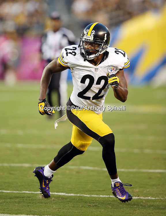 Pittsburgh Steelers cornerback William Gay (22) chases the action during the 2015 NFL week 5 regular season football game against the San Diego Chargers on Monday, Oct. 12, 2015 in San Diego. The Steelers won the game 24-20. (©Paul Anthony Spinelli)