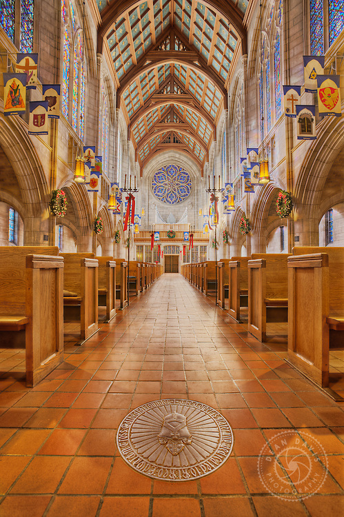 "Image by Dean Davis: I made this image of St. Johns Cathedral just before Christmas of 2008. I was just learning how to do HDR photography and did a personal project called ""Interior Views"" where I did architectural photography, utilizing HDR techniques, of Spokane landmarks. I had some beautiful light to work with."