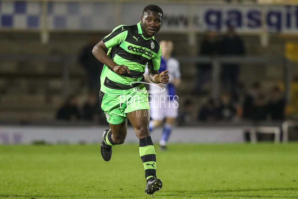 Forest Green Rovers Chris Pindi(16) during the The FA Youth Cup match between Bristol Rovers and Forest Green Rovers at the Memorial Stadium, Bristol, England on 2 November 2017. Photo by Shane Healey.