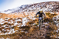 Roz Newman on stage one of the Kinlochleven Enduro.