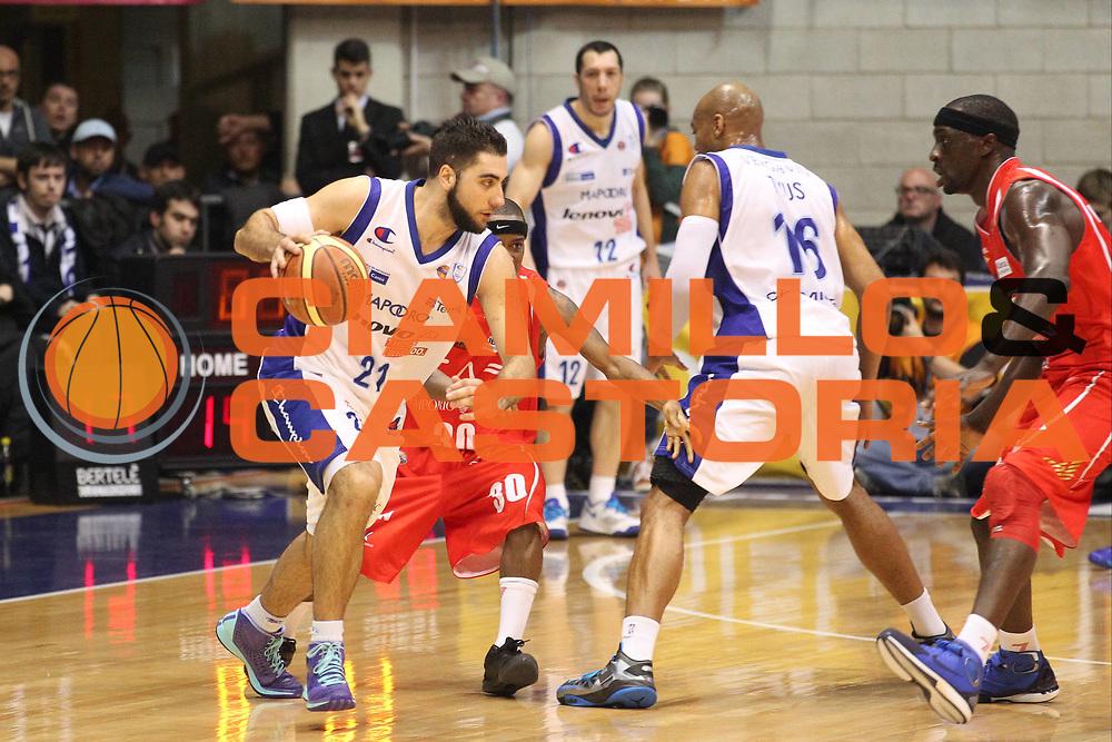 DESCRIZIONE : Desio Lega A 2012-13 Lenovo Cantu Ea7 Emporio Armani Milano<br /> GIOCATORE : Pietro Aradori<br /> CATEGORIA : Palleggio<br /> SQUADRA : Lenovo Cantu<br /> EVENTO : Campionato Lega A 2012-2013<br /> GARA : Lenovo Cantu Ea7 Emporio Armani Milano<br /> DATA : 28/04/2013<br /> SPORT : Pallacanestro <br /> AUTORE : Agenzia Ciamillo-Castoria/G.Cottini<br /> Galleria : Lega Basket A 2012-2013  <br /> Fotonotizia : Desio Lega A 2012-13 Lenovo Cantu Ea7 Emporio Armani Milano<br /> Predefinita :