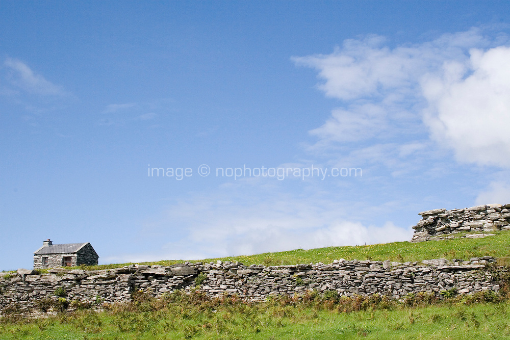 Stone building on Inis Oirr Island the Aran Islands County Galway Ireland