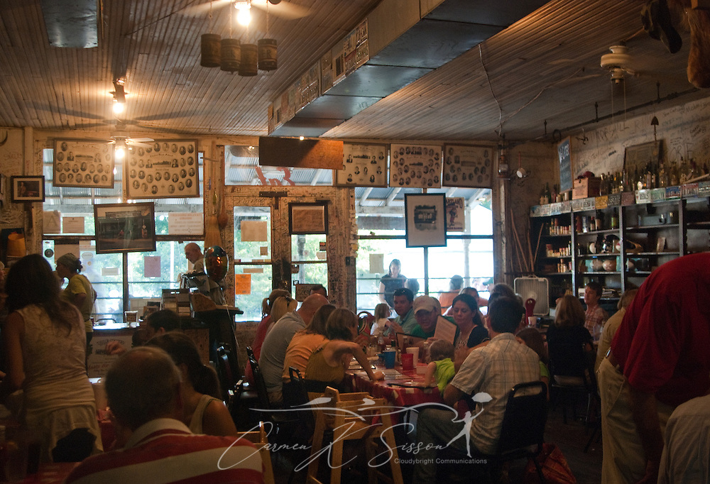 Customers eat at Taylor Grocery, July 31, 2011, in Taylor, Mississippi. Taylor Grocery was founded more than a century ago, and the restaurant — famous for its fried catfish — opened in 1977. (Photo by Carmen K. Sisson/Cloudybright)