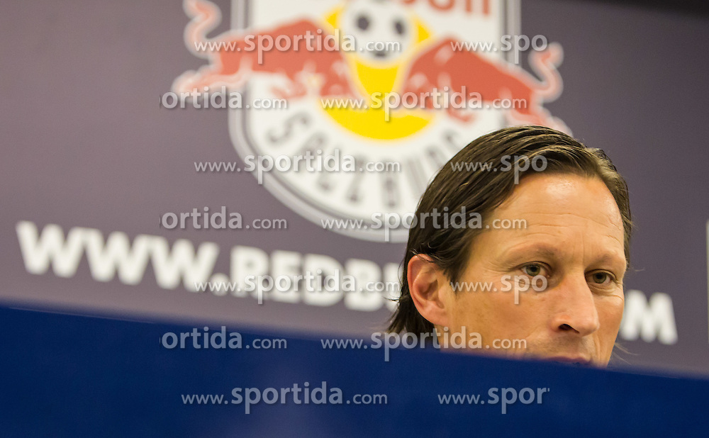 25.06.2012, Red Bull Arena, Salzburg, AUT, 1. FBL, Red Bull Salzburg Pressekonferenz, im Bild Roger Schmidt, Trainer Red Bull Salzburg // during Pressconference of Austrian Football Team Red Bull Salzburg at the Red Bull Arena, Salzburg, Austria on 2012/06/25. EXPA Pictures © 2012, PhotoCredit: EXPA/ Juergen Feichter