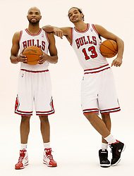 11.12.2011, The Berto Center, Deerfield, USA, NBA, Chicago Bulls Medien Tag, im Bild JOAKIM NOAH Z PRAWEJ I TAJ GIBSON Z LEWEJ CHICAGO BULLS // during Chicago Bulls Media Day at the Berto Center, Deerfield, United Staates on 2011/12/11. EXPA Pictures © 2011, PhotoCredit: EXPA/ Newspix/ Kamil Krzaczynski..***** ATTENTION - for AUT, SLO, CRO, SRB, SUI and SWE only *****