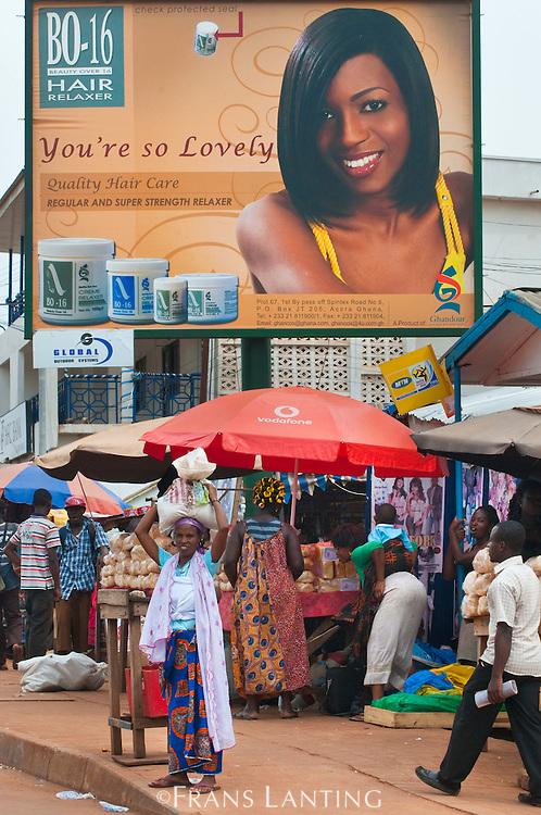 Hair ad on billboard, Ghana