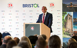 © Licensed to London News Pictures.09/05/2016. Bristol, UK.  MARVIN REES is sworn in as the new elected Mayor of Bristol. The Labour candidate won the Bristol Mayoral election beating his rival and the previous elected Mayor George Ferguson. The Bristol Mayoral election was seen as a two horse race between the incumbent mayor George Ferguson and Labour's challenger Marvin Rees. Operation Black Vote say that Marvin Rees is the first black elected mayor in Europe. Photo credit : Simon Chapman/LNP