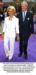 THE DUKE & DUCHESS OF MARLBOROUGHat a party in London on 18th May 2004.PUG 281