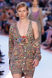 Model walks on the runway during the Missoni Fashion Show during Milan Fashion Week Spring Summer 2018 held in Milan, Italy on September 23, 2017. (Photo by Jonas Gustavsson/Sipa USA)