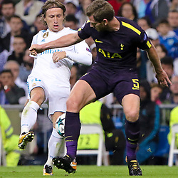 Luka Modric of Real Madrid in action during Uefa Champions League (Group H) match between Real Madrid and Tottenham Hotspur at Santiago Bernabeu Stadium on October 17, 2017 in Madrid  (Spain) (Photo by Luis de la Mata / SportPix.org.uk)