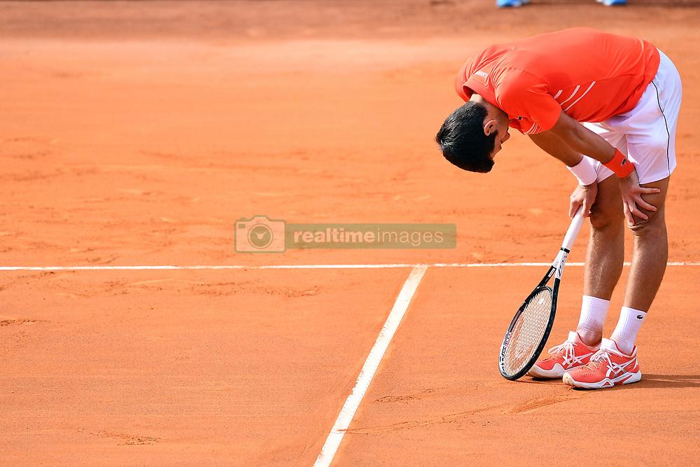May 19, 2019 - Roma, Italia - Foto Alfredo Falcone - LaPresse.19/05/2019 Roma ( Italia).Sport Tennis.Internazionali BNL d'Italia 2019.Novak Djokovic (srb) vs Rafael Nadal (esp).Nella foto: Novak Djokovic ..Photo Alfredo Falcone - LaPresse.May 19th, 2019 Roma (Italy).Sport Tennis.Internazionali BNL d'Italia 2019.Novak Djokovic (srb) vs Rafael Nadal (esp).In the pic: Novak Djokovic (Credit Image: © Alfredo Falcone/Lapresse via ZUMA Press)