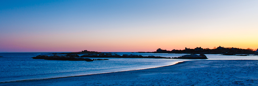 Fading light over Gooseberry beach, Newport, RI