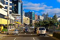 Street scene, Welliington, New Zealand