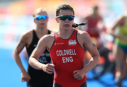 England's Sophie Coldwell competes in the Women's Triathlon Final at the Southport Broadwater Parklands during day one of the 2018 Commonwealth Games in the Gold Coast, Australia. PRESS ASSOCIATION Photo. Picture date: Thursday April 5, 2018. See PA story COMMONWEALTH Triathlon. Photo credit should read: Mike Egerton/PA Wire. RESTRICTIONS: Editorial use only. No commercial use. No video emulation.