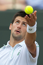 LONDON, ENGLAND - Wednesday, June 30, 2010: Novak Djokovic (SRB) during the Gentlemen's Singles Quarter-Final on day nine of the Wimbledon Lawn Tennis Championships at the All England Lawn Tennis and Croquet Club. (Pic by David Rawcliffe/Propaganda)