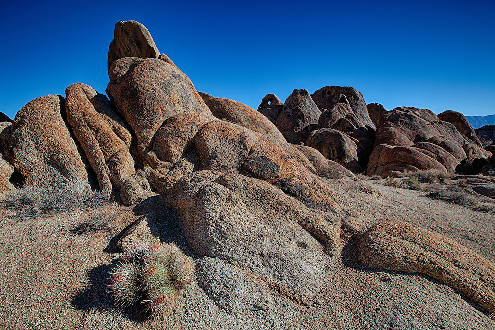 Heart Arch And Cactus - Alabama Hills CA - HDR