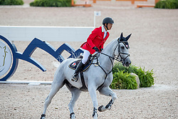FUKUSHIMA Daisuke (JPN), Cornet<br /> Tryon - FEI World Equestrian Games™ 2018<br /> 2. Qualifikation Teamwertung 1. Runde<br /> 20. September 2018<br /> © www.sportfotos-lafrentz.de/Stefan Lafrentz