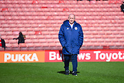 John Coleman of Accrington Stanley (Manager) during the EFL Sky Bet League 1 match between Barnsley and Accrington Stanley at Oakwell, Barnsley, England on 9 March 2019.