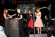LUCY YEOMANS; ANNIE LENNOX; JOOLS HOLLAND; MARIELA FROSTRUP, Harpers Bazaar Women of the Year Awards. North Audley St. London. 1 November 2010. -DO NOT ARCHIVE-© Copyright Photograph by Dafydd Jones. 248 Clapham Rd. London SW9 0PZ. Tel 0207 820 0771. www.dafjones.com.