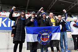 Bath fans in the crowd show their support - Mandatory byline: Patrick Khachfe/JMP - 07966 386802 - 18/01/2020 - RUGBY UNION - Kingspan Stadium - Belfast, Northern Ireland - Ulster Rugby v Bath Rugby - Heineken Champions Cup