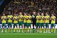 Picture by Paul Chesterton/Focus Images Ltd.  07904 640267.03/12/11.The Norwich players take part in a minutes applause for Gary Speed before the Barclays Premier League match at the Etihad Stadium, Manchester.