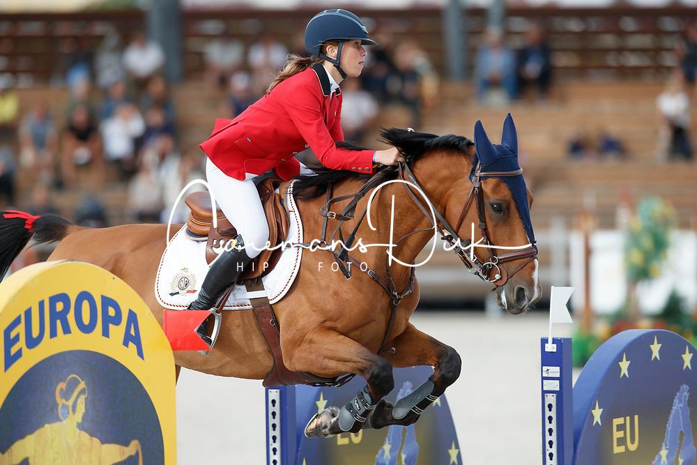 De Hornois Caro-Belle, BEL, Idyllis L<br /> Children European Championships Jumping <br /> Samorin 2017&copy; Hippo Foto - Dirk Caremans<br /> 12/08/2017