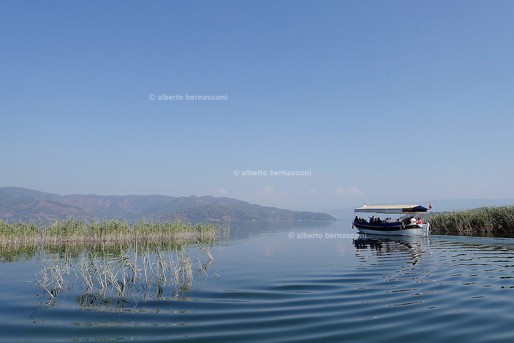 Turkey, Dalyan region, boat trip on the river