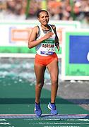 Azmera Abreha (ETH) places third in 2:23:35 in the 43rd Paris Marathon in IAAF Gold Label road race in Paris, Sunday, April 14, 2019. (Jiro Mochizuki/Image of Sport)