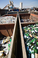 Garbage in recycling centre