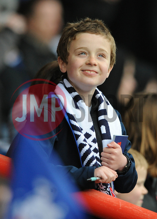 A young Bristol Rugby fan - Photo mandatory by-line: Dougie Allward/JMP - Mobile: 07966 386802 - 02/05/2015 - SPORT - Rugby - Bristol - Ashton Gate - Bristol Rugby v Rotherham Titans - Greene King IPA Championship