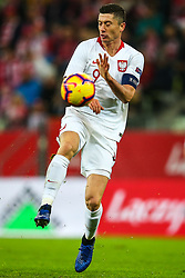November 15, 2018 - Gdansk, Poland - Robert Lewandowski of Poland  in action during International Friendly match between Poland and Czech Republic on November 15, 2018 in Gdansk, Poland. (Credit Image: © Foto Olimpik/NurPhoto via ZUMA Press)