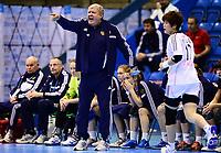 Håndball , 29. november 2013 , Møbelringen Cup kvinner<br /> Russland - Sør-Korea<br /> Evgenii Trefilov , trener Russland<br /> Handball , Women<br /> Russi - Korea