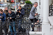 UNITED KINGDOM, London: 28 May 2019 <br /> The environment secretary Michael Gove returns to his house after a morning jog in West London this morning. The Tory leadership candidate will pledge free British citizenship for three million EU nationals after Brexit if he becomes prime minister.