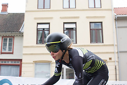 Eva Buurman of Parkhotel Valkenburg - Destil Cycling Team leans into a corner during the prologue of the Ladies Tour of Norway - a 3.4 km time trial, starting and finishing in Halden on August 17, 2017, in Ostfold, Norway. (Photo by Balint Hamvas/Velofocus.com)