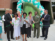 Officials cut the ribbon for the new Atherton Elementary School on Friday, Sept. 6, 2013.