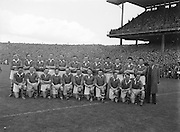All Ireland Football Final Senior teams Kerry v Meath 26th September 1954 ..26.09.1954  26th Septmber 1954