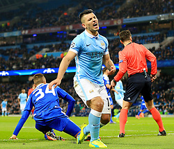 Sergio Aguero of Manchester City rues a missed chance - Mandatory byline: Matt McNulty/JMP - 15/03/2016 - FOOTBALL - Etihad Stadium - Manchester, England - Manchester City v Dynamo Kyiv - Champions League - Round of 16