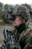 Un soldat du 2eme REI.<br /> Francoise Dumas, deputee LREM en visite  au 2eme regiment etranger d infanterie.Pendant cette visite elle d&eacute;couvre le VBCI et echange avec les militaires<br /> VBCI<br /> Vehicule blinde de combat &nbsp;fran&ccedil;ais&nbsp;tout-terrain&nbsp;a huit roues, con&ccedil;u et fabrique en France par&nbsp;Nexter Systems&nbsp;et par&nbsp;Renault Trucks Defense<br /> 11&nbsp;soldats&nbsp;peuvent prendre place a bord du vehicule, qui est equipe de tous les moyens de communication modernes<br /> L objectif du VBCI est d amener le&nbsp;fantassin&nbsp;au plus pres des combatLa protection du vehicule peut etre adaptee a la menace<br /> Le VBCI peut-etre&nbsp;aerotransportable&nbsp;par un&nbsp;Airbus A400M.