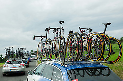 Assistant cars during Stage 2 of 22nd Tour of Slovenia 2015 from Skofja Loka to Kocevje (183 km) cycling race  on June 19, 2015 in Slovenia. Photo by Vid Ponikvar / Sportida