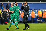 Sheffield Wednesday Manager Garry Monk thanks fans at full time during the The FA Cup match between Queens Park Rangers and Sheffield Wednesday at the Kiyan Prince Foundation Stadium, London, England on 24 January 2020.
