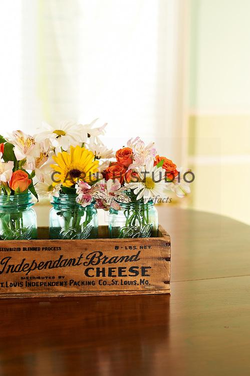Supermarket flower centerpiece