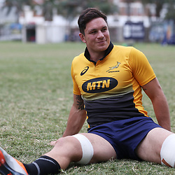 DURBAN, SOUTH AFRICA - AUGUST 14: Francois Louw during the South African national rugby team training session at Jonsson Kings Park on August 14, 2018 in Durban, South Africa. (Photo by Steve Haag/Gallo Images)