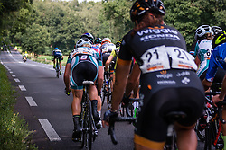 Rider of Orica - AIS trying to escape from the peloton during the Holland Ladies Tour, 's-Heerenberg, Gelderland, The Netherlands, 1 September 2015.<br /> Photo: Pim Nijland / PelotonPhotos.com