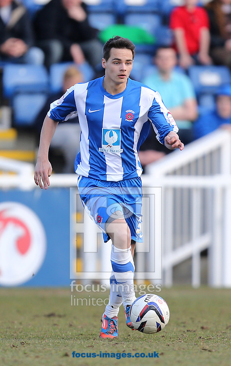 Picture by Paul Gaythorpe/Focus Images Ltd +447771 871632.06/04/2013.Zak Boagey of Hartlepool United during the npower League 1 match at Victoria Park, Hartlepool.
